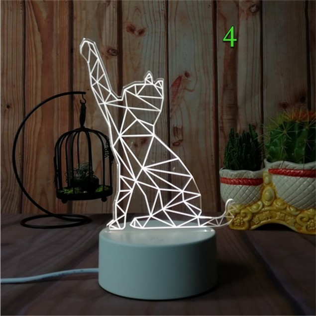 Christmas Novelty Acrylic Gradient 3D Desk Lamp