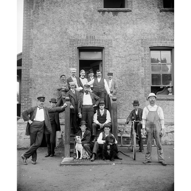 Brooklyn: Hospital, C1900. /Nstewards And Nurses At The Brooklyn Navy Yard