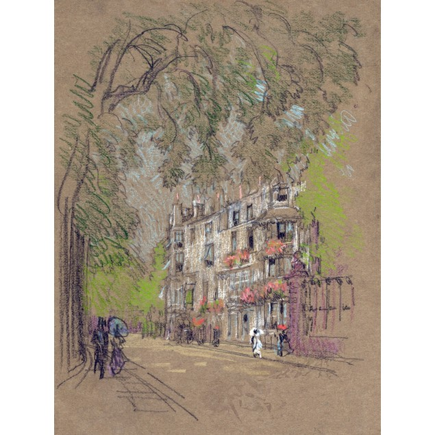Pennell: London, C1905. /Na Street Scene In London, England. Pastel Drawing