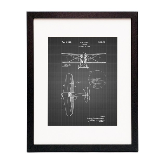 Staggered Biplane Aircraft Patent Poster