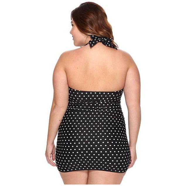 LAUREN Ralph Lauren Plus Size Retro Dot Swim Dress Cover-Up SIZE 16 W
