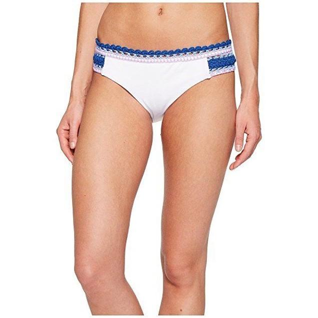 Becca by Rebecca Virtue Women's Tab Side Hipster Bikini Bottom White SZ:S