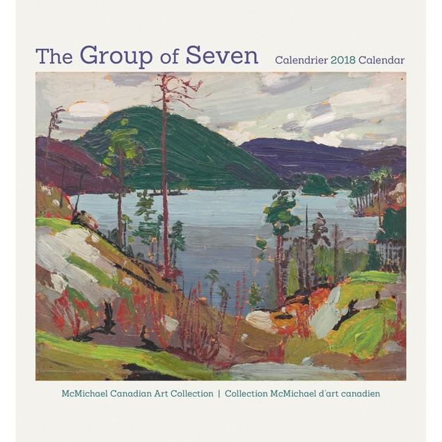 The Group of Seven Mini Wall Calendar (Bilingual), Fine Art by Pomegranate