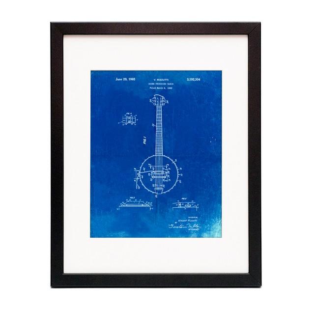Modern Banjo Patent Poster