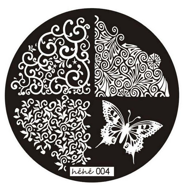 Pattern Nail Art Image Stamp Stamping Plates Manicure Template