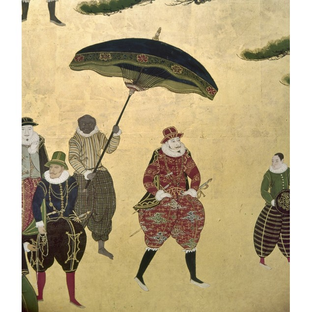 Japan: Portuguese, C1600. /Ncommander Of A Portuguese Trading Party Walks W