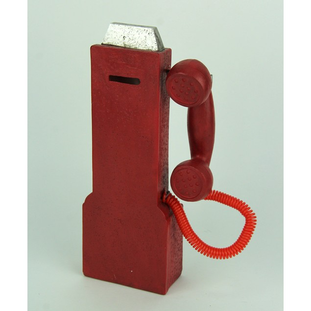 Vintage Look Red Replica Pay Phone Coin Bank Toy Banks