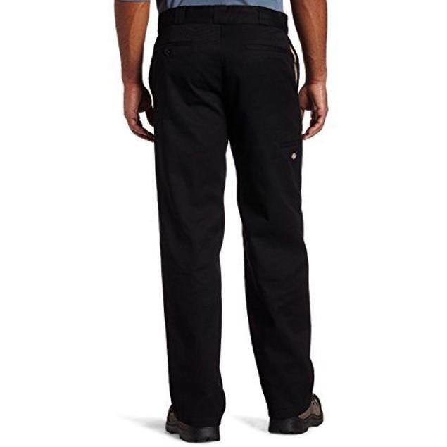 Dickies Men's Big-Tall Loose Fit Double Knee Work Pant, Black, SZ:  56