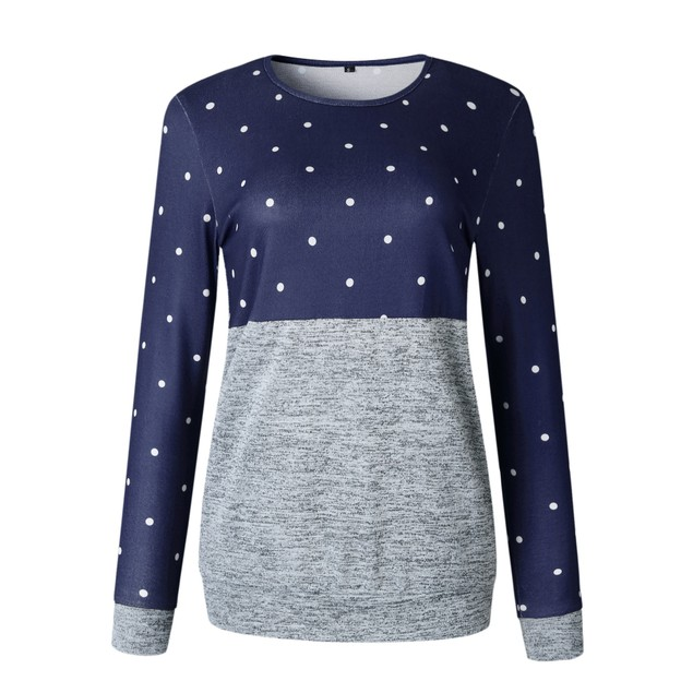Polka Dot Top Long Sleeve Shirt