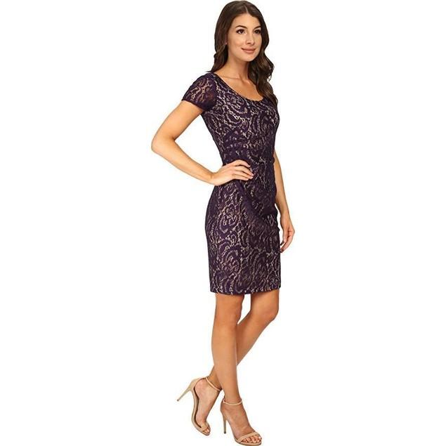 NYDJ Women's All Over Lace Dress Midnight Dress 16