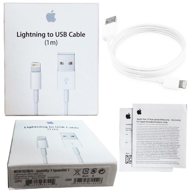Genuine Original Apple Lightning to USB Charge Cable iPhone 6s/Plus/5/SE