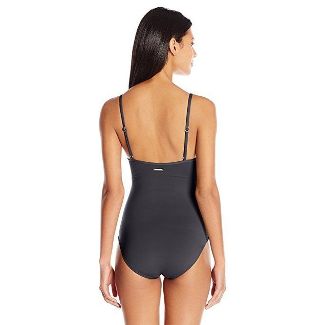 Vince Camuto Women's Fiji Solids Wrap One Piece Swimsuit SZ: 14