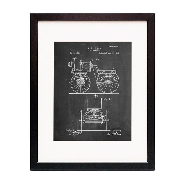 Motor Buggy 1895 Patent Poster