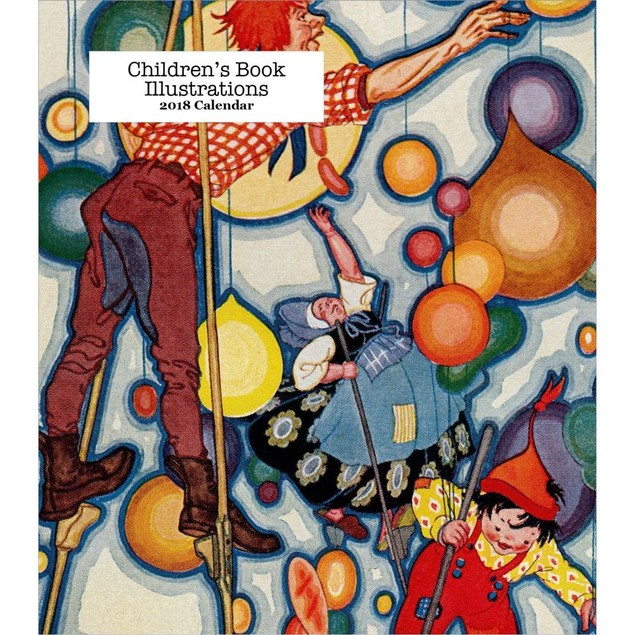 Childrens Book Illustrations Easel Calendar, Literature by Retrospect Group
