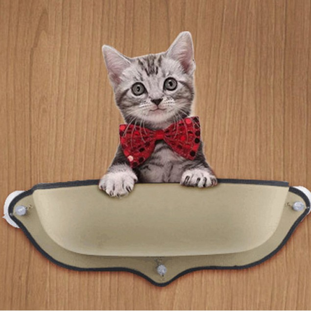 Cat Window Bed Seat Perch Pet Mounted Hanging Shelf Seat with Suction Cup