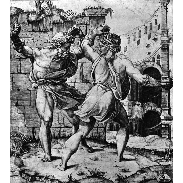 Aeneid: Dares And Entellus. /Nthe Fight Between Dares (Left) And Entellus F