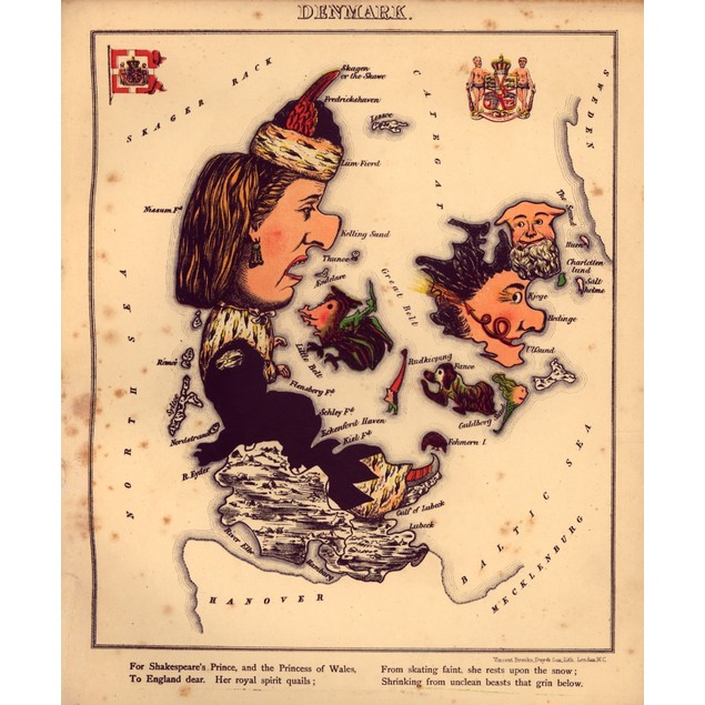 Anthropomorphic Map of Denmark Poster