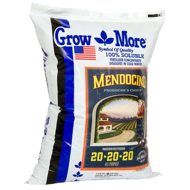 Grow More Mendo Soluble 20-20-20, 25 lbs