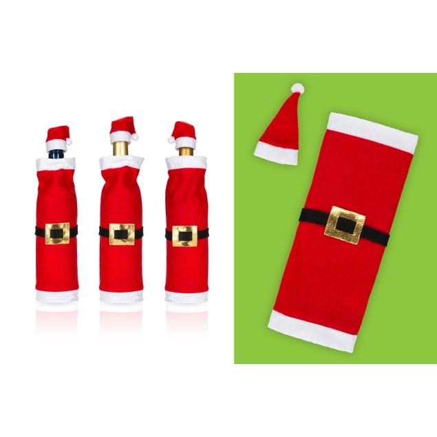 3 Pk-Santa Wine Bottle Covers