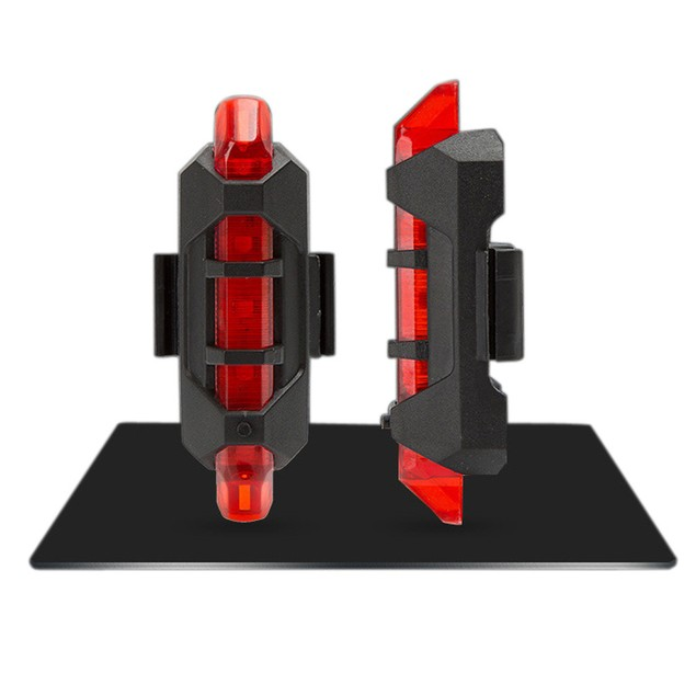 5 LED USB Rechargeable Bike Bicycle Tail Warning Light Rear Safety