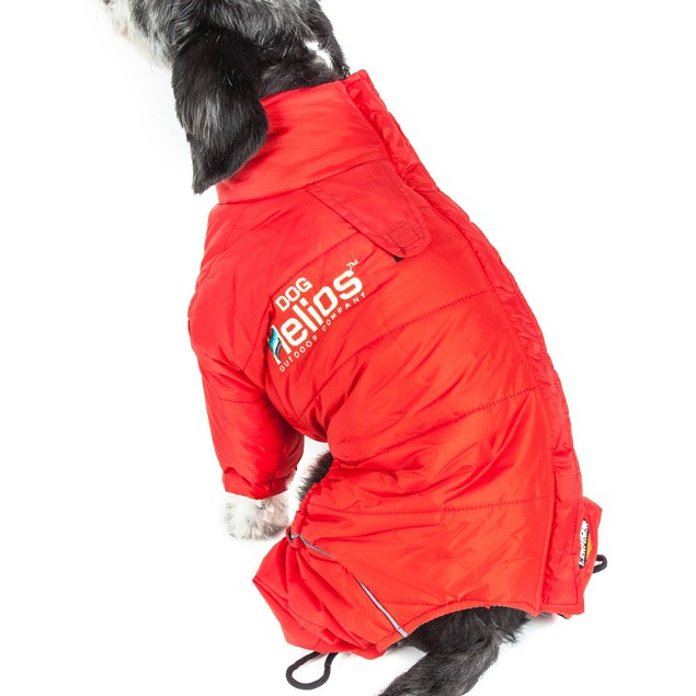 Helios Thunder-crackle Full-Body Waded-Plush Adjustable Dog Jacket
