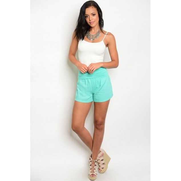 One Story Mint High Waist Shorts