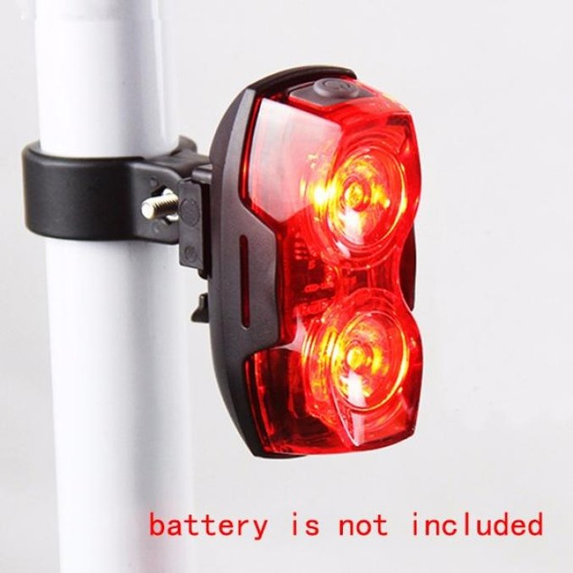 Super Bright Red 2 LED Rear Tail Light Bike Bicycle Safety Light