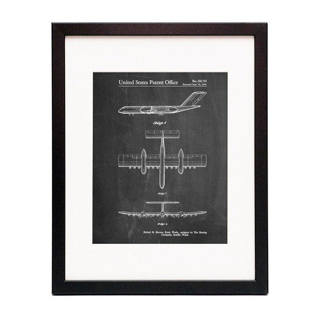 RC-1 Airplane Concept Patent Poster