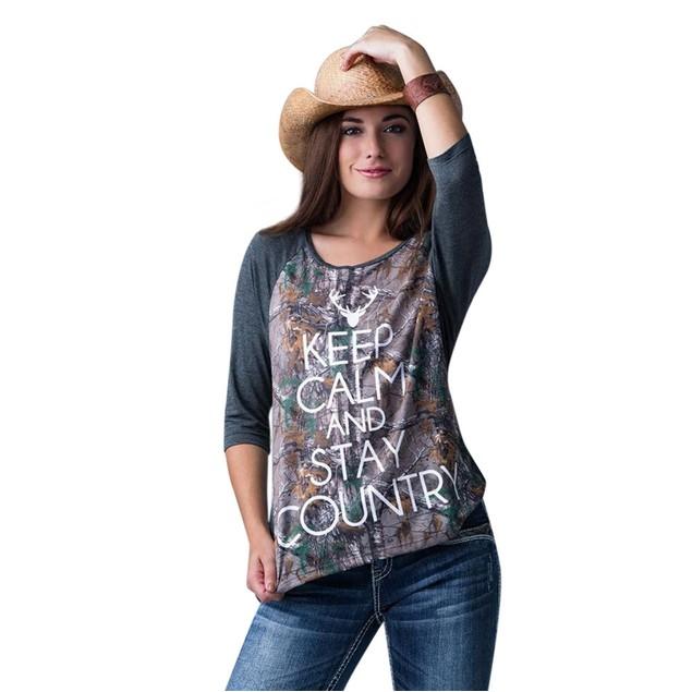 Women Full Of Christmas Spirit Printed Splicing T-Shirt Blouse Tops