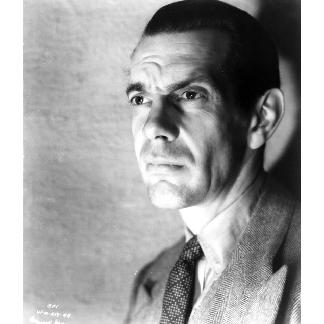Raymond Massey Posed in Classic Poster