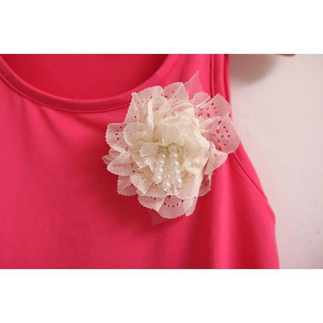 Baby Girl Dot Flower Set Toddler Vest Clothing