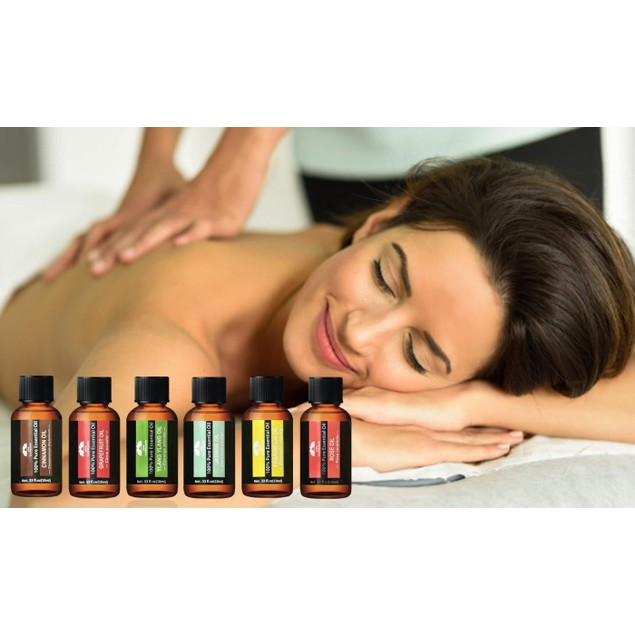 6-Piece Set: Essential Oils by Two Elephants - Assorted Styles
