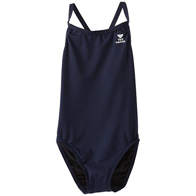 TYR Girl's Durafast Elite Solid Diamondfit Swimsuit Sz: 38