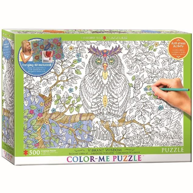 Color Me Vibrant Wisdom 500 Piece Puzzle, 500 Piece Puzzles by Eurographics