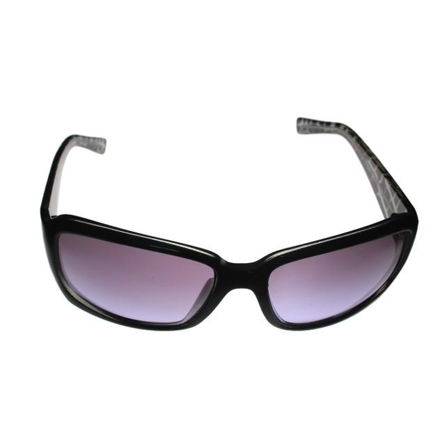 Ellen Tracy Womens  Sunglass Black Rectangle Plastic, Gradient Lens ET500 1