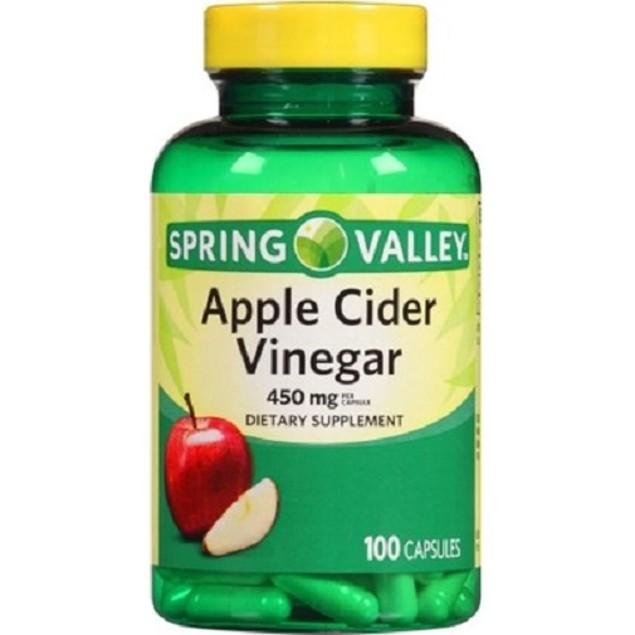 Spring Valley Apple Cider Vinegar Dietary Supplement Capsules
