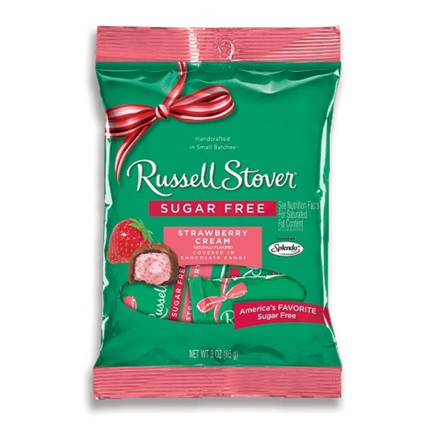 Russell Stover Chocolate Sugar Free Strawberry Cream Caramel