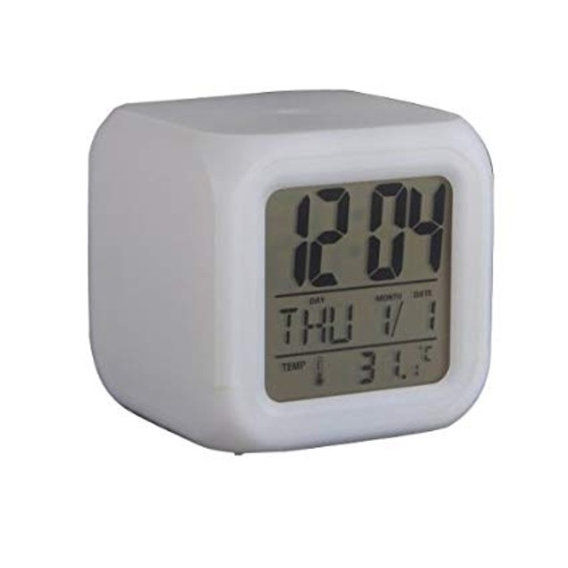 Glowing LED Color Change Digital Glowing Alarm Thermometer
