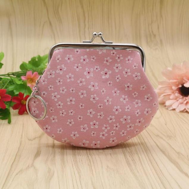 Women Lady Retro Vintage Flower Small Wallet Hasp Purse Clutch Bag