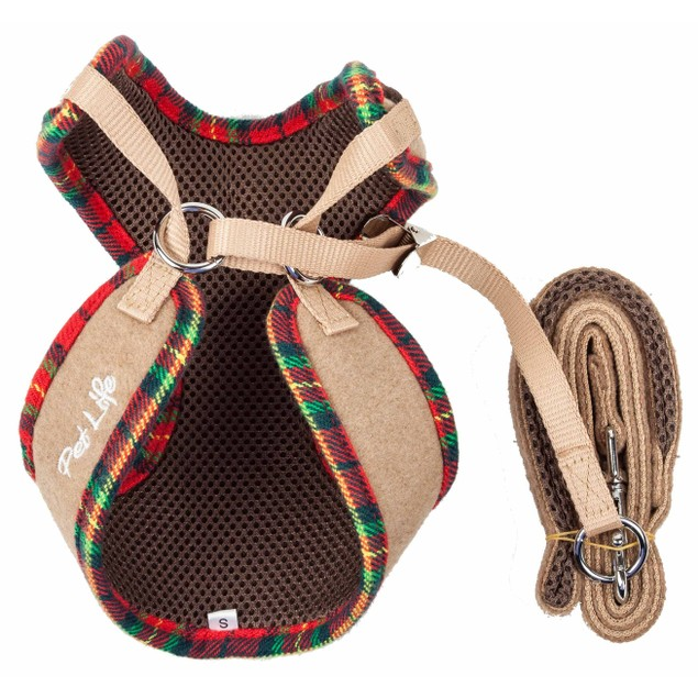 Pet Life Luxe 'Dapperbone' 2-In-1 Dog Harness-Leash W/ Fashion Bowtie