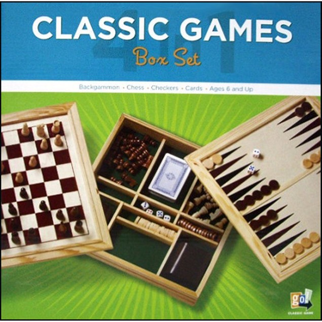 4 in 1 Game Set in Wooden Box, More Pop Culture by Go! Games