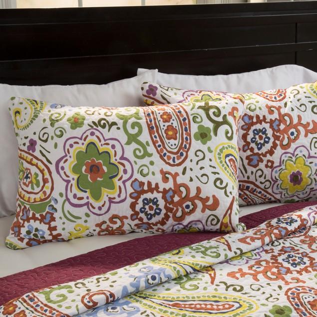 Lavish Home Trista 3 Piece Cotton Quilt Set - Full/Queen