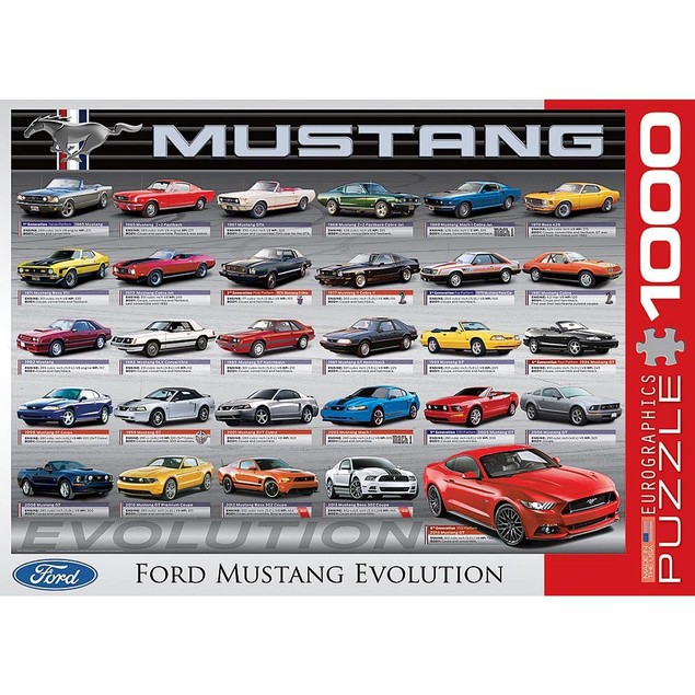 Mustang Revolution 1000 Piece Puzzle, 1,000 Piece Puzzles by Eurographics
