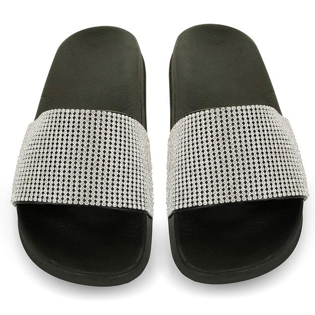 Women's Chatties Rhinestone Slide Sandals