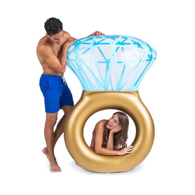 Giant Diamond Ring Inflatable Floatie