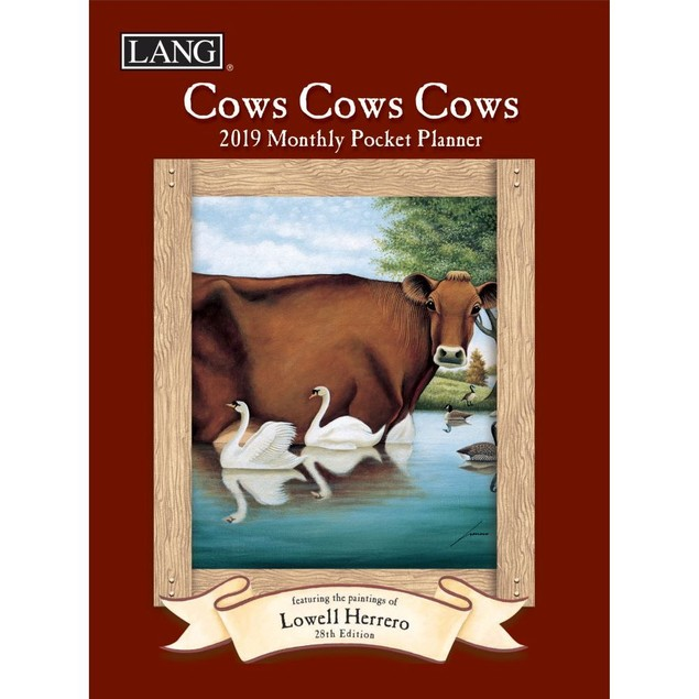 Cows Cows Cows Monthly Pocket Planner, Farm Animals by Calendars
