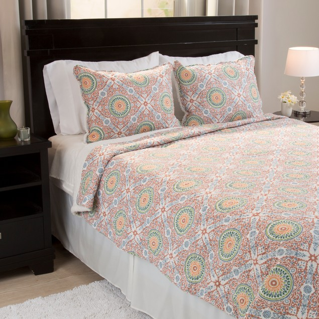 Lavish Home Emilia Reversible 2 Piece Quilt Set with Sherpa - Twin