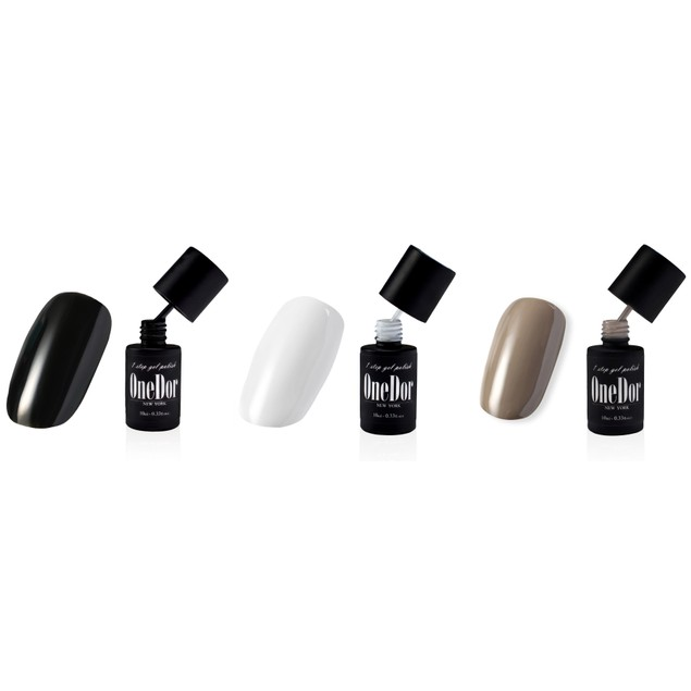 3 Pack:  OneDor One Step Gel UV/LED Nail Polish