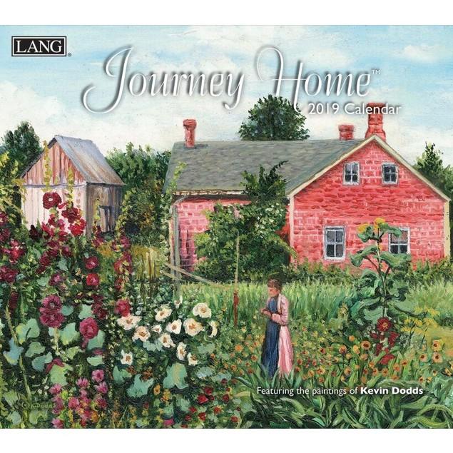 Journey Home Wall Calendar, Lang Folk Art by Calendars