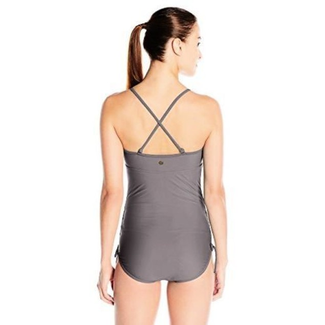 prAna Women's Moorea One Piece Swimsuit, Moonrock SIZE SMALL